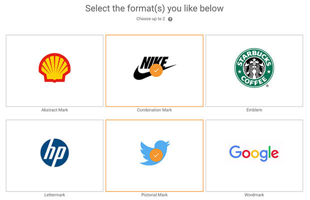 BXP Creative Logo Tool format selection