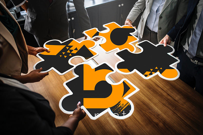 putting together the puzzle of logo design
